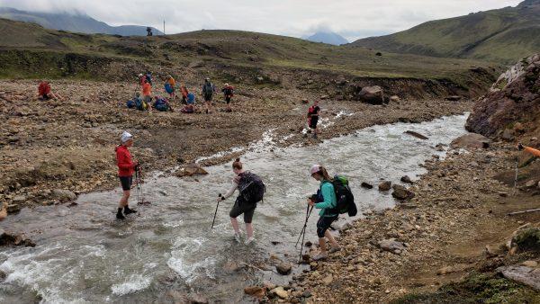 Iceland womens hiking laugavegur trek