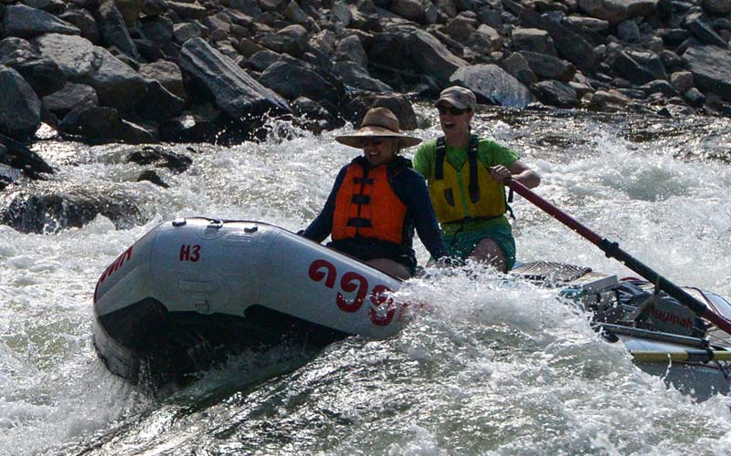 Salmon River Idaho womens rafting adventure
