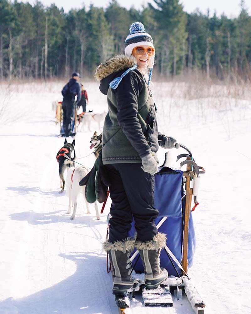 Women's Wisconsin Dog Sledding